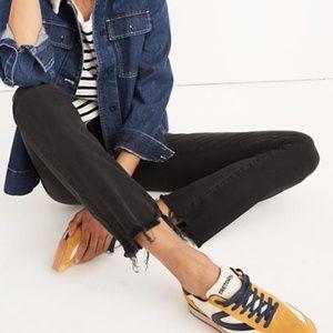Madewell Cali Demi-Boot Jeans Frayed Chewed Hem